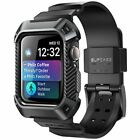 SUPCASE 843439105072 Rugged Protective Case for Apple Watch 4 44mm 2018 with Strap Bands for Apple Watch Series 4 - Black