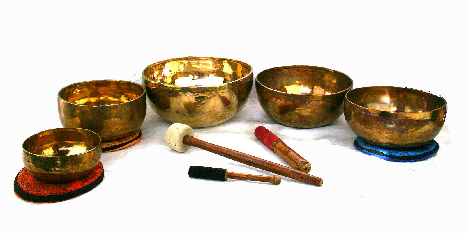 Klangschale Set Klangmassage bol chantant singing bowl 5 St. 5397g Hörprobe S403