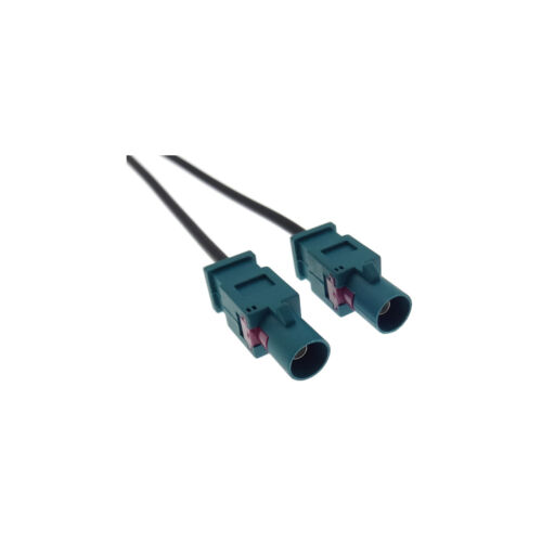 Twin Dual Ae​rial Adaptor DIN Male for VW Audi Seat Double Fakra Antenna