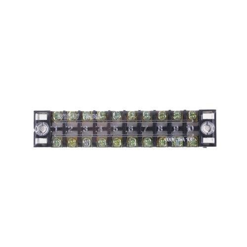 Tb-1510 10 Positionen Zweireihig Abgedeckter Schraubklemmenblock 600V 15 S2