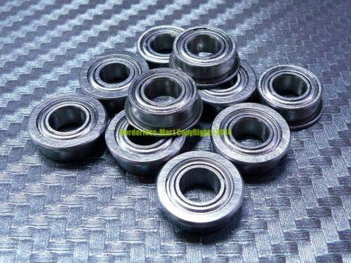 Flange Metal Shielded Ball Bearing F6700z 10*15*4 10 Pcs 10x15x4 mm F6700zz