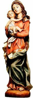 Madonna Mit Kind A.polyresin Handbemalt Figurengr.38 Cm Mutter Gottes Neu