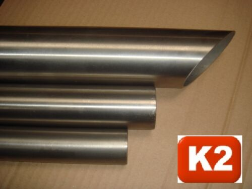 UNCUT L = 0,5-1,95 M Round Tube RAW, v2a Stainless Steel Tube 80x4 Stainless Steel