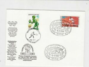 south korea 1988 olympics stamps cover ref 18915
