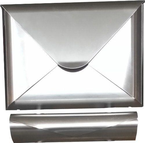 Design Briefkasten SOBRE A3 Edelstahl mit Zeitungsrolle
