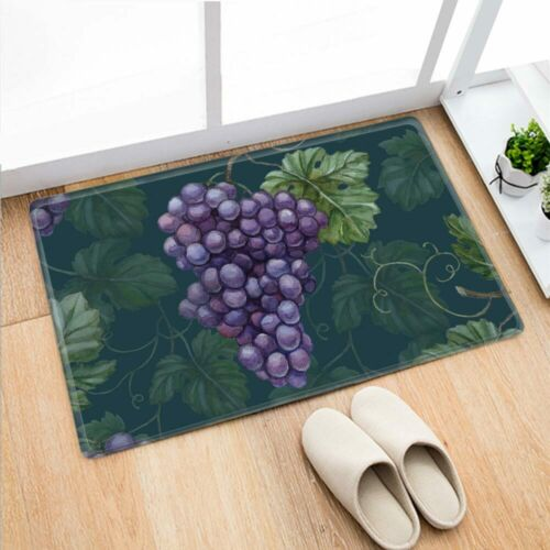 Retro Cock Grape Print Non-slip Doormat Kitchen Mat Bedroom Carpet Bathroom Rug