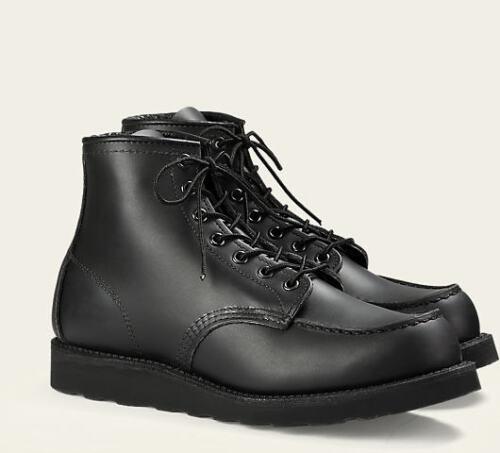 da Heritage pollici Nero Skagway Premium Wing Scarpe 8130 Moc pelle in Boots Toe 6 Red RHPqa