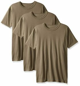Soffe-Men-039-s-3-Pack-USA-Poly-Cotton-Military-Tee-Medium-Tan