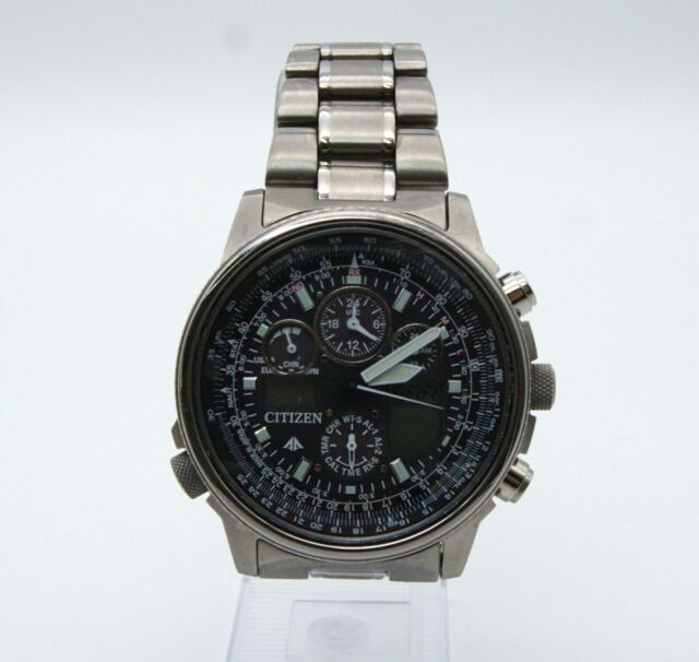 Armbanduhr Citizen Herren Chronograph Quarz Edelstahl Timer JY8020-52 schwarz