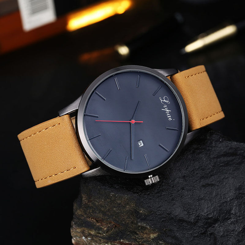 $4.86 - Luxury Men's Date Watch Stainless Steel Leather Analog Quartz Military Watches