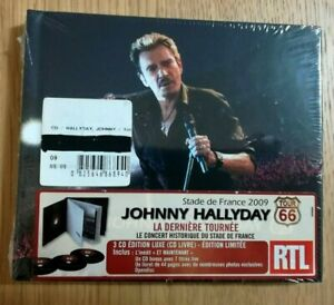 Tour-66-Stade-De-France-2009-de-Johnny-Hallyday-CD-Neuf-sous-Blister