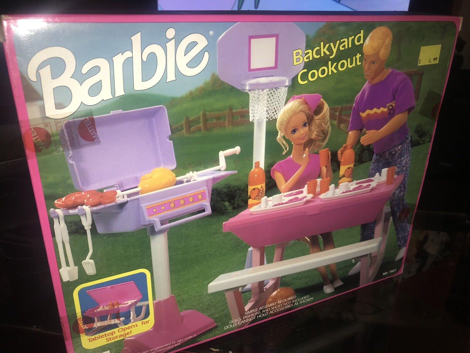 Barbie Vintage Backyard Cookout 1992 (Mattel  7567) Factory Sealed; BRAND NEW