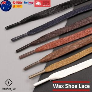 Flat-Premium-Cotton-Wax-Shoelaces-Thin-Dress-Waxed-Laces-7mm-For-Dress-Shoes-AUS
