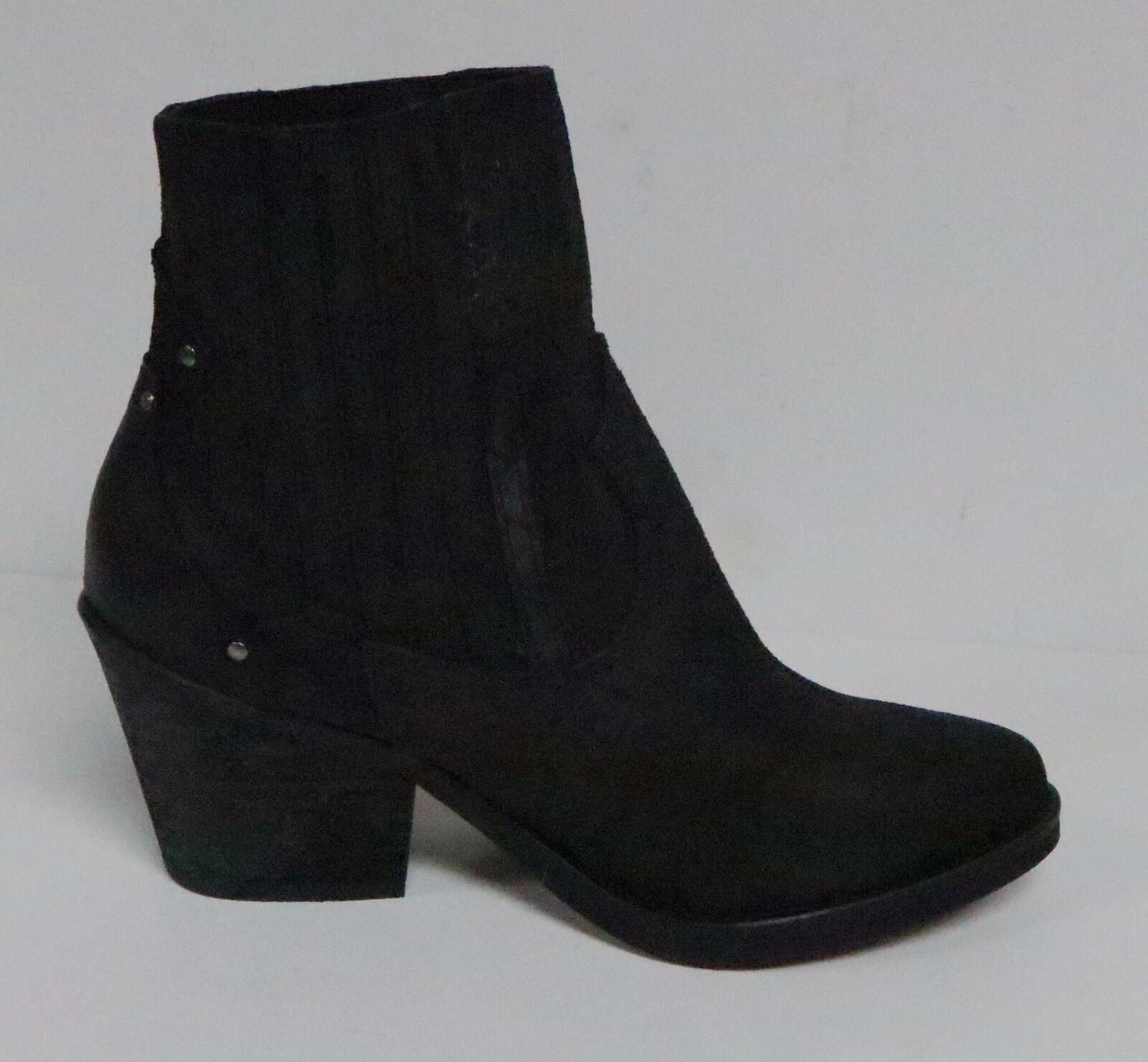MUSSE & CLOUD JENCI BOOTIES GORE ANKLE NEW BOOTS BLACK DISTRESSED LEATHER NEW ANKLE 7d5c91