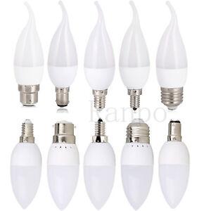 LED-Bulb-Chandelier-Flame-Candle-Light-E12-E26-E27-E14-B22-3W-Lamp-2835SMD-White