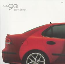 Saab 93 Sport Saloon UK Brochure 2004-2005 Linear Vector Sport Aero Models