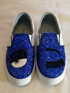 Glitter Flirting Wink Taglia Chiara Ferragni Eye Eu 2 Slip Sneakers Blu 35 Uk on 14S4xnRwW