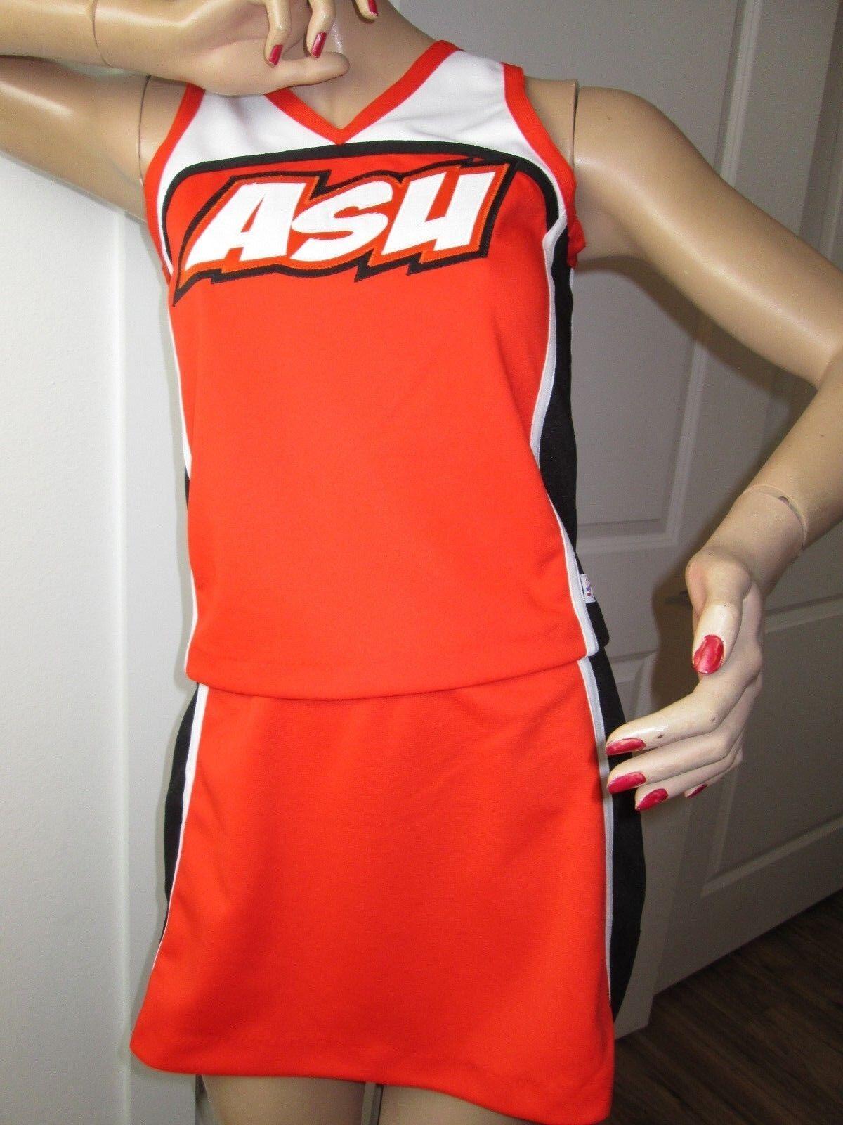 Cheerleader Uniform Outfit Costume Adult Medium Size 36  Top Elastic Waist Skirt