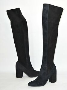 eab9f2bb3bf Cole Haan  Darla Over-the-Knee Boot  Black Suede Size 9.5 B w06087 ...