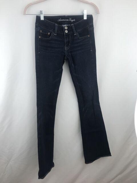 American Eagle Artist Jeans Size 0 Womens Dark Wash Stretch Boot Cut