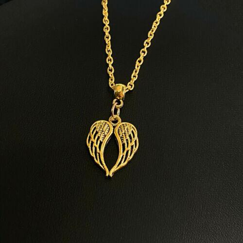 Women Fashion Angel Wings Heart Pendant Necklace Jewelry Gold 10PCS wholesale