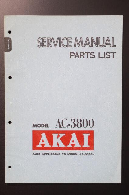 Akai Ac Parts List  Wiring