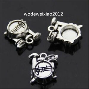 10pc-Retro-Tibetan-Silver-Charms-Shelf-drum-Jewelry-Accessories-wholesale-JP961