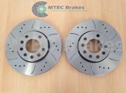 9-3 mk2 1.9 TiD Front Drilled Sport Brake Discs /& Pads