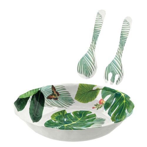 Epicurean Amazon Floral Salad Serving Set