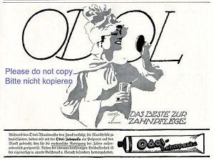 Zahnpasta-Odol-Reklame-von-1920-Dame-Spiegel-Ludwig-Hohlwein-Zaehne-Werbung