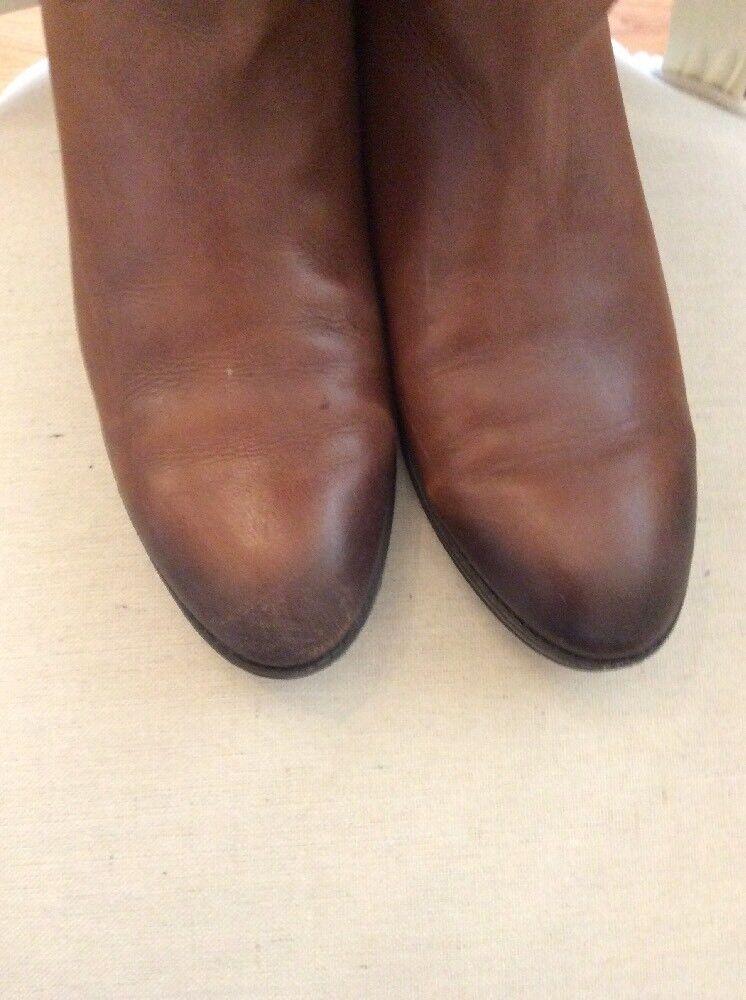 Sam Edelman Penny Stiefel Tall Braun Stiefel Penny Leder Zip Größe 7m cognac calf 4c0a6d