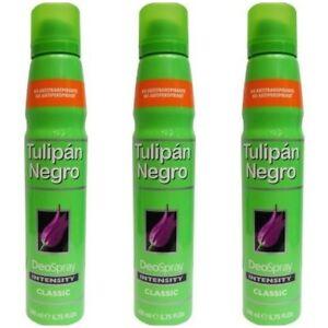 3-X-200-ml-SPANISH-TULIPAN-NEGRO-CLASSIC-DEODORANT-CLASSIC