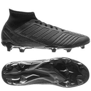 adidas Predator 18.3 FG 2018 Soccer Cleats Shoes Blackout Pure Black ... 1e5579c0c