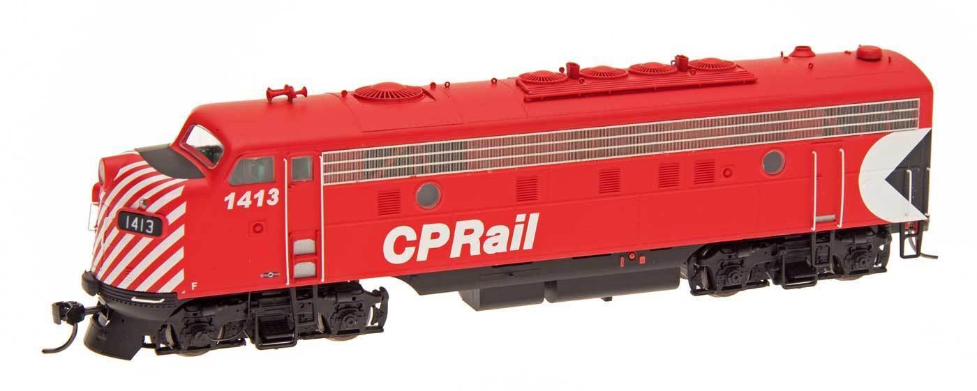 Escala HO-Intermountain 49989-07 Cp Rail FP9A Loco   1413 DCC equipado