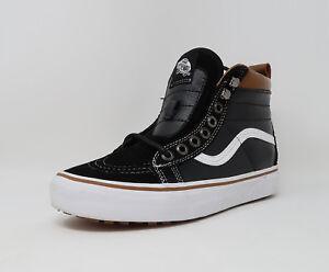 2b053b3f1abc Vans Unisex Shoes Sk8 Hi MTE Men Women Black White Leather Sneakers ...