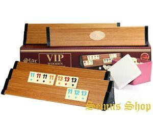 Star-V-I-P-Holz-Wooden-Rummy-Set-VIP-OKEY-mit-Melamin-Steine-AHSAP-OKEY-TAKIMI