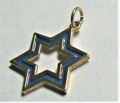 MCS Jewelry 14 Karat Yellow Gold Evil Star of David Charm Pendant 18 mm 14 K