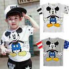 Toddler Baby Kids Boy Girls Clothes Cotton Cartoon Mickey Tee Shirt Tops T-Shirt