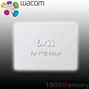 Details about Wacom Intuos3 6x11 Transparent Clear Overlay Sheet for  PTZ-631W Graphic Tablet