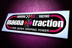 Vintage Style MAGNA•TRACTION • Aurora • AFX • Slot Car Sticker • Pit Box Decal