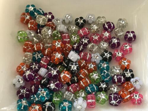Acrylique perles fleurs de perles 300 pcs 7 mm Spacer Bricolage Bijoux Bricolage r77