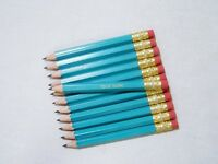 48 light Turquoise Personalized Golf Pencils W/erasers