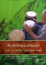 Learn How To Play Playing Congas Jose Eladio Amat DVD DRUMS RHYTHMS BEATS LESSON