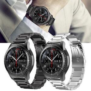 Fuer-Samsung-Gear-S3-Frontier-Classic-Armband-Edelstahl-Ersatz-Band-UhrBand-22-mm