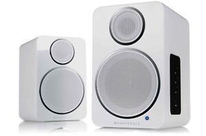 Wharfedale-DS-2-Activo-Bluetooth-altavoces-de-escritorio-par-Pc-mac-Plato-Giratorio-Blanco