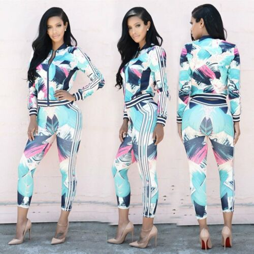 Ladies Tracksuit Hoodies Sweatshirt Pants Sets Sportswear Casual Suit 2Pcs