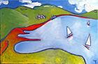 Tableau original peinture huile sur toile - signé - Artiste FLAVIEN COUCHE