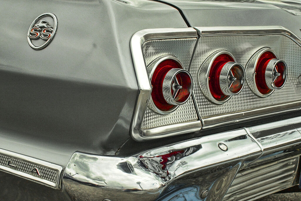1 Ss Chevy 409 Impala 1960s Sport Car Vintage 24 argento Carrusel 12 Metal 18