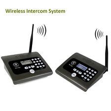 2x Full Duplex Home Indoor Wireless Voice Calling Intercom System w/ Antennas YS