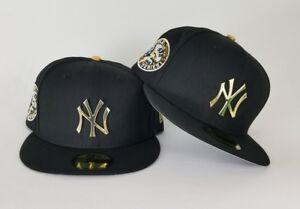c47349993d6 New Era Black 1949 WS Yankee Gold Metal Badge fitted hat Jordan 14 ...